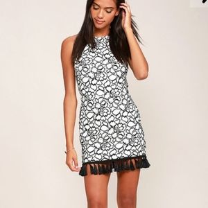 Lulus Black and White Lace Dress